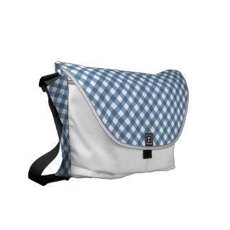 White Diamonds Classic Blue Gingham Messenger Bag