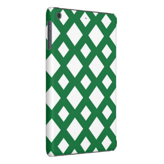 White Diamonds on Green iPad Mini Retina Case
