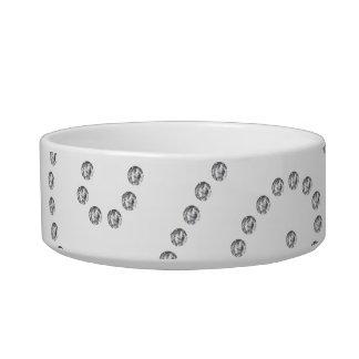 White diamonds swirls bowl