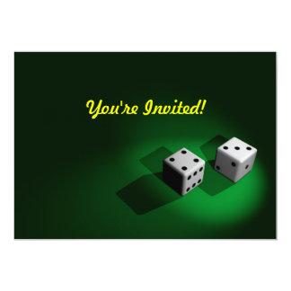 White Dice Invitation