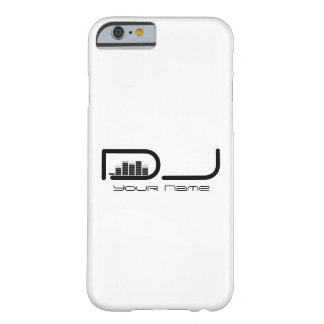 White DJ iPhone 6 case with Equalizer Design Barely There iPhone 6 Case