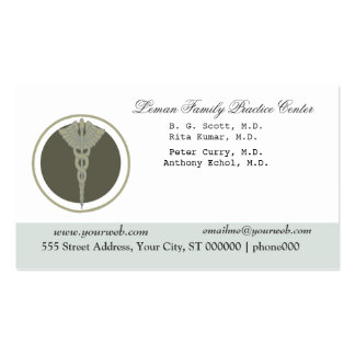 White Doctor Caduceus Medical Clinic Appointment Pack Of Standard Business Cards