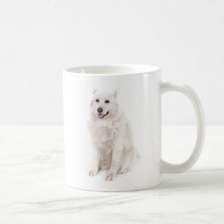 WHITE DOG DIGITAL REALISM PETS HAPPY LOGO CAUSES A MUGS