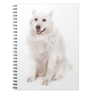 WHITE DOG DIGITAL REALISM PETS HAPPY LOGO CAUSES A NOTE BOOKS
