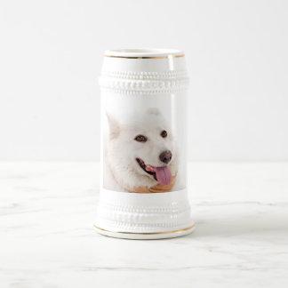 WHITE DOG HAPPY PETS FURRY FRIENDS ANIMALS TAME LO MUG