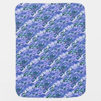 White Dogwood Blossom in Blue Baby Blanket