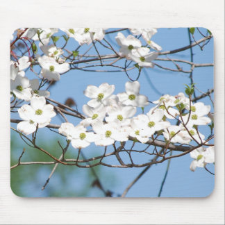 White Dogwood Flowers mousepad