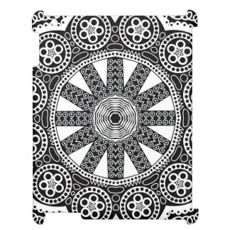 White Doily On A Black Background iPad Cases