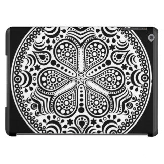 White Doily On Black Case For iPad Air
