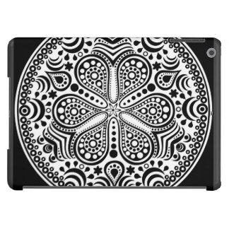 White Doily On Black Case For iPad Air