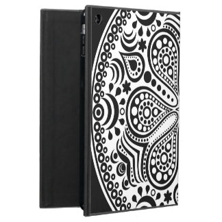 White Doily On Black iPad Air Covers