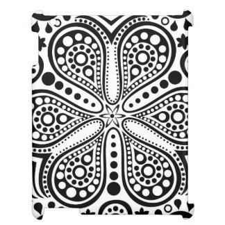 White Doily On Black Case For The iPad