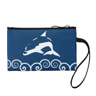 white DOLPHIN Coin Wallets
