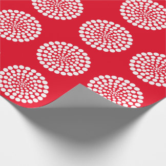 WHITE DOT PRINT. CUSTOMIZABLE BACKGROUND COLOUR. WRAPPING PAPER