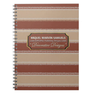 White Dots inline Horizontal Browns Notebook