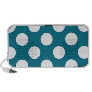 White dots on blue - retro style speaker