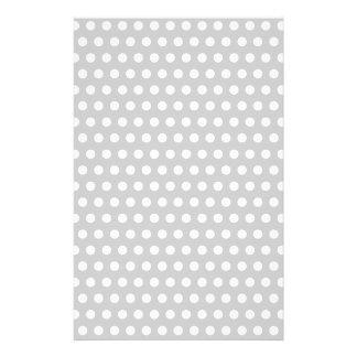 White Dots on Light Grey Stationery