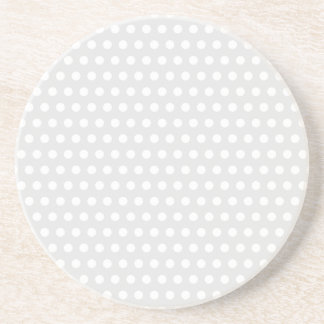 White Dots on Pale Gray Coaster