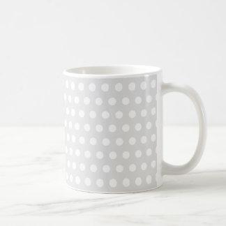 White Dots on Pale Gray Coffee Mug