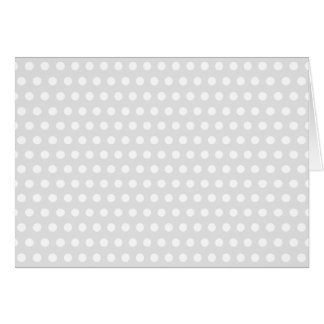 White Dots on Pale Gray Greeting Card