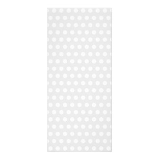 White Dots on Pale Gray Rack Card