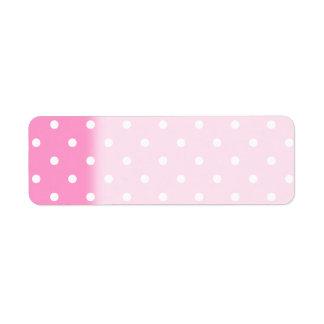 White Dots, Pink Polka Dots Pattern.