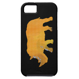 white dots rhino animal iPhone 5 covers