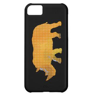 white dots rhino animal iPhone 5C case