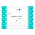White dots, Teal Polka Dot Pattern. Personalized Announcements