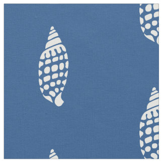 White Dotted Shells Pick Any Color Nautical Fabric