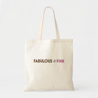 White double handle tote with Fabulous & Pink logo