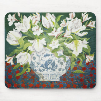 White double tulips and alstroemerias 2013 mouse mat