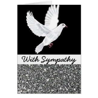 White Dove and Black Sympathy Card