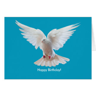 White Dove image Birthday-Card Card