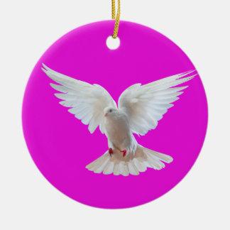 White Dove image for Circle Ornament