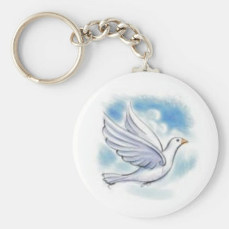 white dove key ring