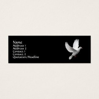 White Dove Mini Business Card