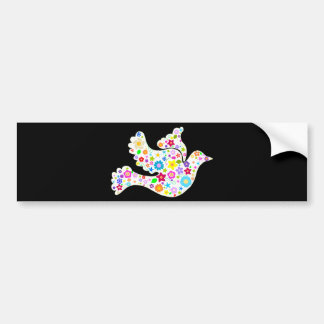 White Dove of Flowers Bumper Sticker