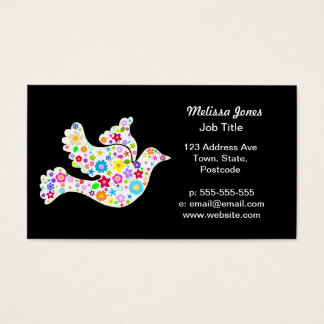 White Dove of flowers Business Card