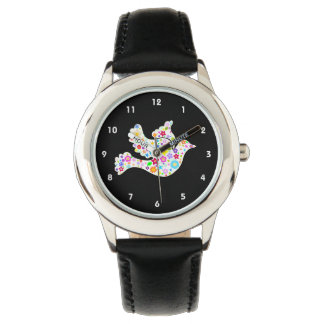 White Dove of Flowers Watch