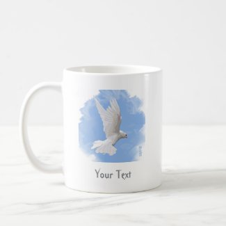 White Dove Painting Classic Mug