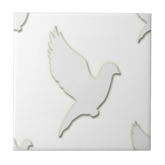 White Dove Small Square Tile