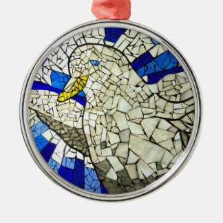 White Dove Stained Glass Christmas Tree Ornament