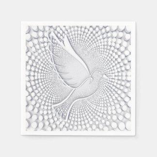 White Dove Standard Cocktail Paper Napkins Disposable Serviette