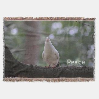 White Dove Throw Blanket