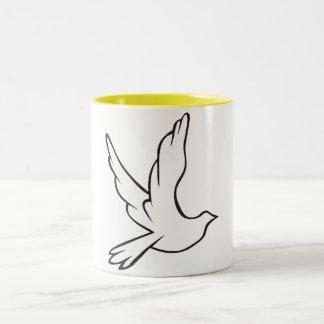 White Dove Two-Tone Coffee Mug