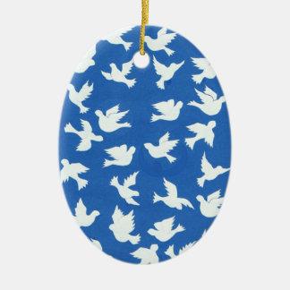White Doves Ornament