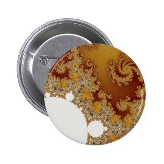 White Dragon - Fractal Art 6 Cm Round Badge