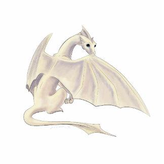 White Dragon Photosculpture Photo Sculpture Key Ring