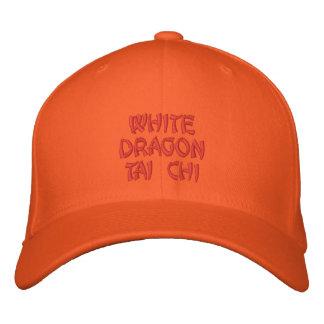 WHITE DRAGON TAI CHI EMBROIDERED BASEBALL CAP